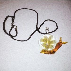 None Jewelry - 💜FREE W/$25+ Glass Flower Necklace