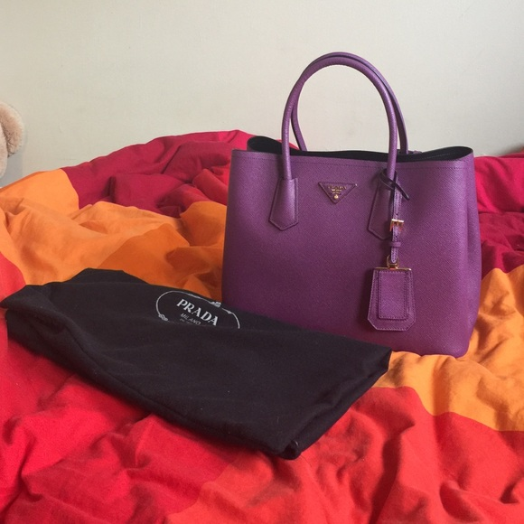 a6b924f116 Prada Double Bag Purple Black