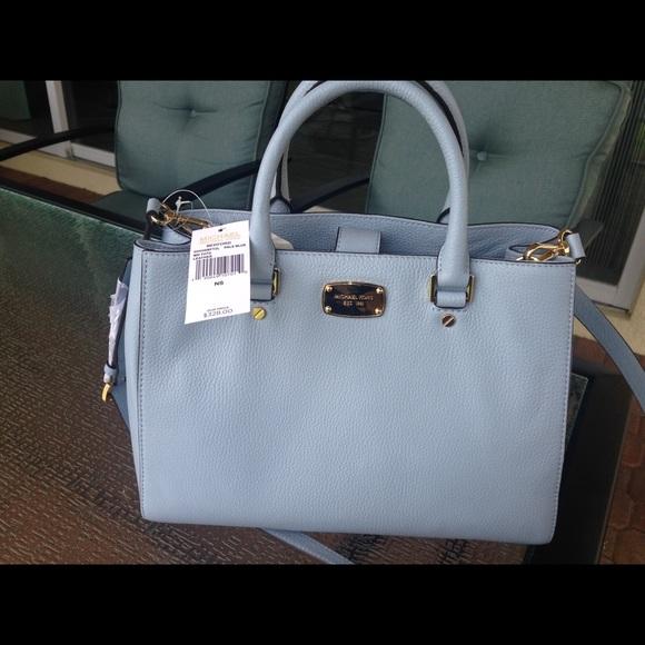 debe3d486391 KORS Michael Kors Bags   Michael Kors Nwt Light Blue Med Leather ...