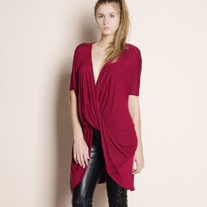 Bare Anthology Tops - Faux Wrap Twist Front Top