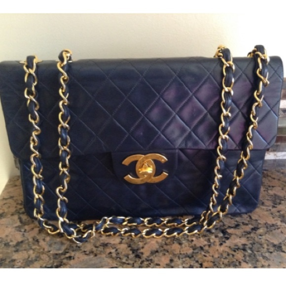 599d3dc62a49 CHANEL Bags | Sold On Tradesy Navy Jumbo | Poshmark