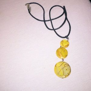 PacSun Jewelry - Pacsun Yellow Abstract Necklace