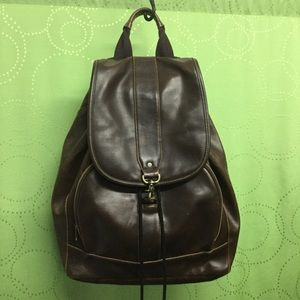 Handbags - Minimalist brown leather backpack