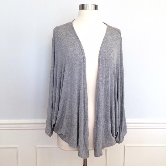 78% off Zara Sweaters - ZARA Gray Shrug Open Cardigan Wrap! from ...