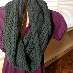 Accessories - CLEARANCE NWOT Turquoise Infinity Fringe Scarf