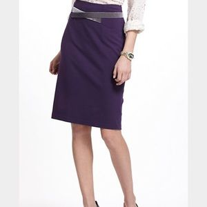 Anthro-Girls from Savoy-Velvet Crossed Ponte skirt