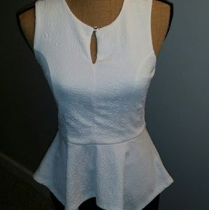 Tops - White peplum top