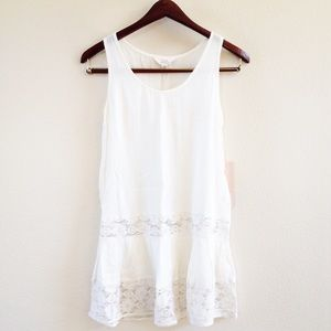 | new | ivory lace tank
