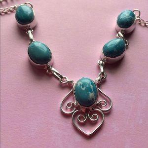 Jewelry - Rare Caribbean 5 Stone LARIMAR NECKLACE !!
