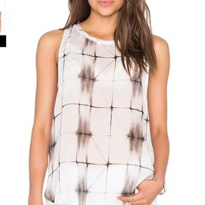 Anthropologie Abstract Semi-Sheer Tank