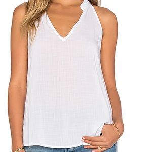HP Split Back Halter Swing Tank White