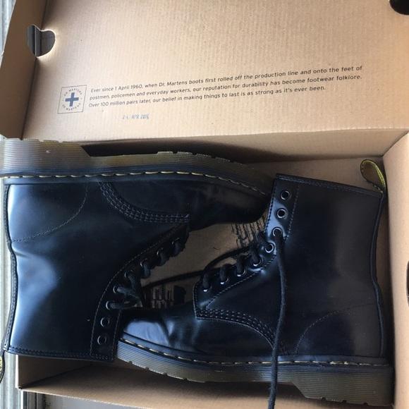 23097f5ddd6 Dr. Martens Shoes | Dr Martens 1460 Black Milled Smooth Boots | Poshmark