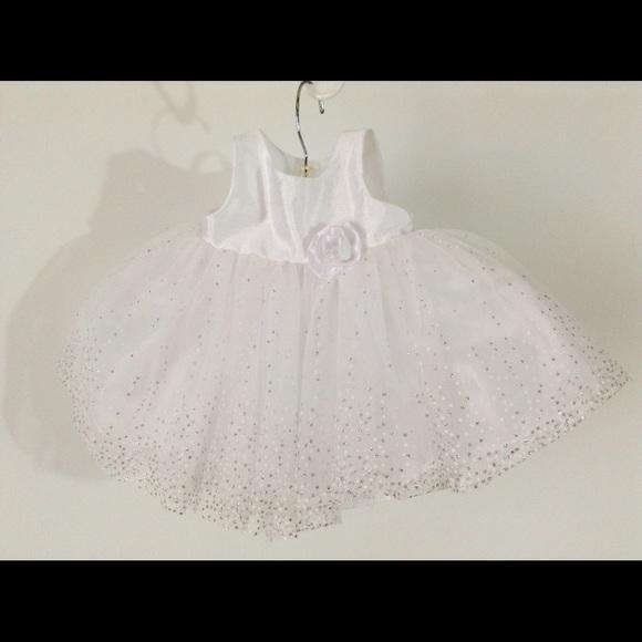 ab6d88567 Cherokee Dresses & Skirts - White Flower Girl Dress 3 Month Baptism Weddings