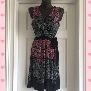  Nicole Print Dress Size S