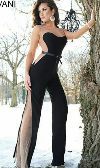 9658e1a3edf8 Jovani Dresses | Jumpsuit Illusion Jersey Design | Poshmark