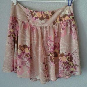 Pink floral GAP skirt