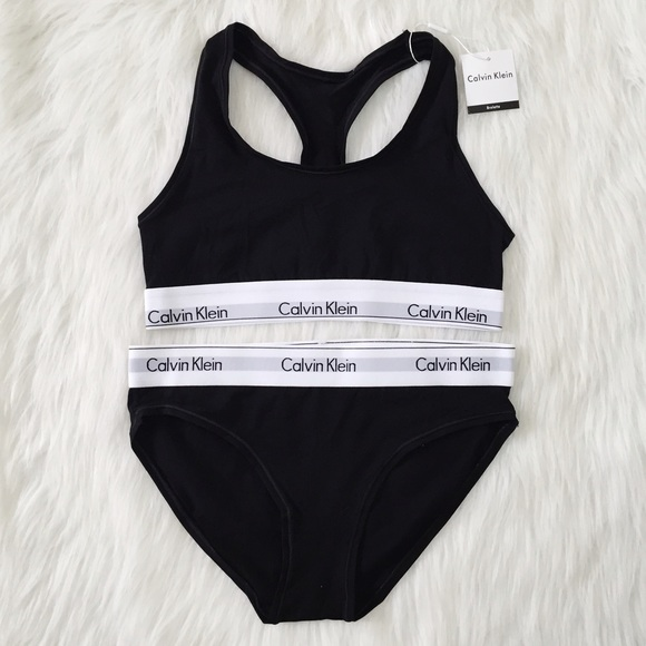 13 off calvin klein other sold matching black ck sports bra and underwear from b long. Black Bedroom Furniture Sets. Home Design Ideas