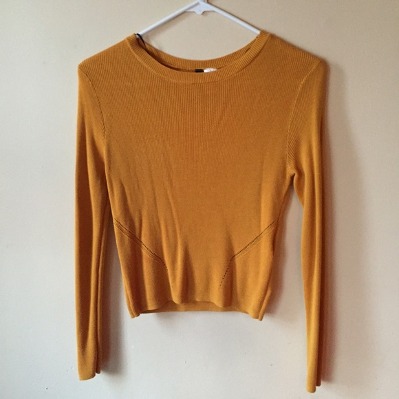 2da93b5a80eafd Divided Tops - H M Divided Mustard Yellow long-sleeve top sweater