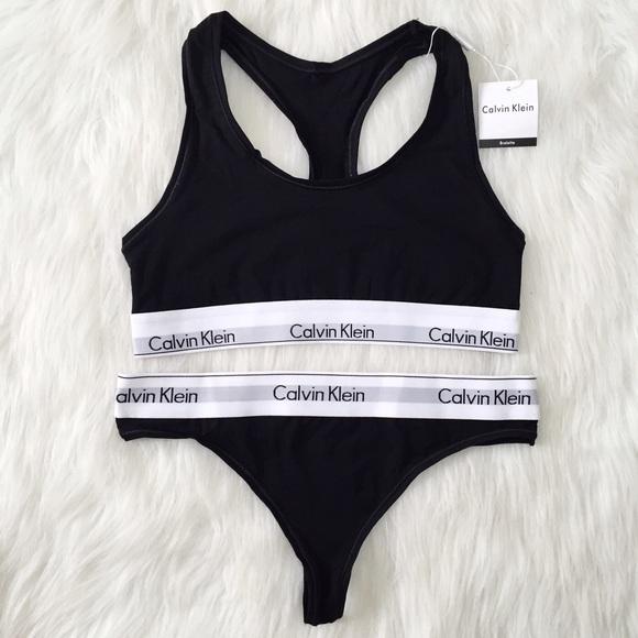 ❤️2 DAY SALE❤ black CK sports bra and thong 7ae30b417e2c
