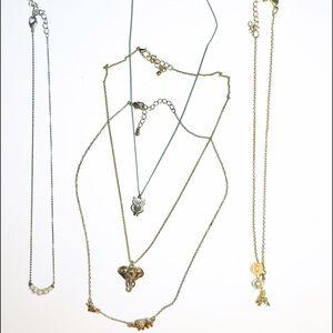 Dainty Gold Necklace Bundle