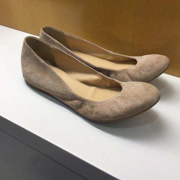 c6b90dffd98b J. Crew Shoes - J. Crew Suede Cece Ballet Flats in Sandy Brown