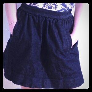 J. Crew Dark Denim Circle Skater Skirt Size 6