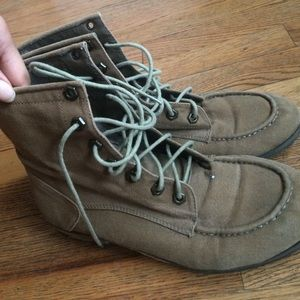 Free Worn Combat Boots w/purchase!
