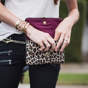 Handbags - Designer Leopard Print Cross body/Waist Bag