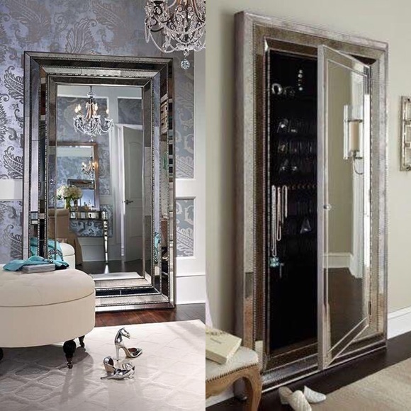 Lovely Glam Floor Mirror Jewelry Box