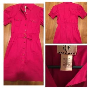 ICE Dresses & Skirts - Hot Pink Shirt Dress