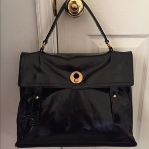 YSL Black Leather Sac Muse Two NWT