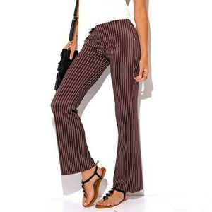 tatata Pants - Chocolate brown stripe high waist pants, NWOT, hp