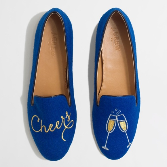 d60061816afc4 J. Crew Shoes | Jcrew Rare Cheers Loafers Flats Embroider | Poshmark