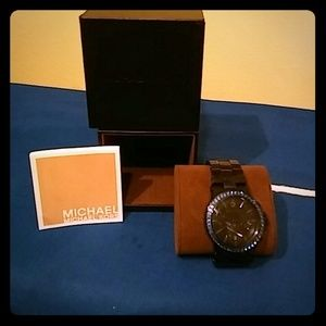 Black and Blue  Michael Kors watch