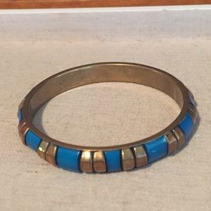 Just In!  Vintage Wood and Brass Bangle
