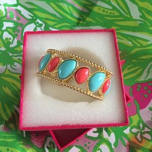 Lilly Pulitzer GWP Orange and Blue Gold Cuff