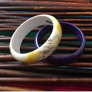 Jewelry - Vintage 80's bangle bracelets 🔮