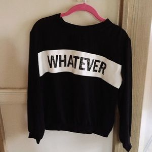 "H&M Tops - Sheer distressed H&M ""whatever"" long sleeve shirt"