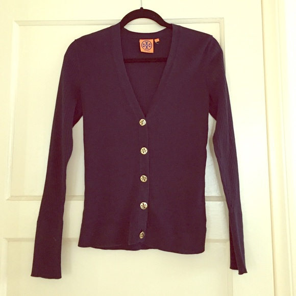 Tory Burch - Tory burch navy blue cardigan with gold buttons from ...
