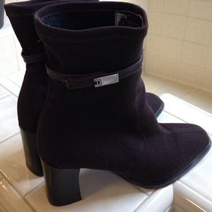 Chocolate fabric Etienne Aigner boots