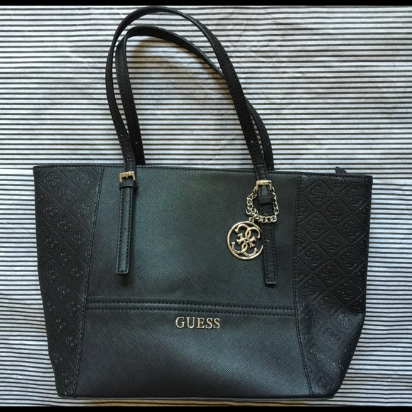 Guess Black Tote Bag. Listing Price   30. Your Offer ad06d0b7492ae