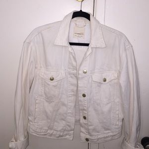 White Zara Jean Jacket!
