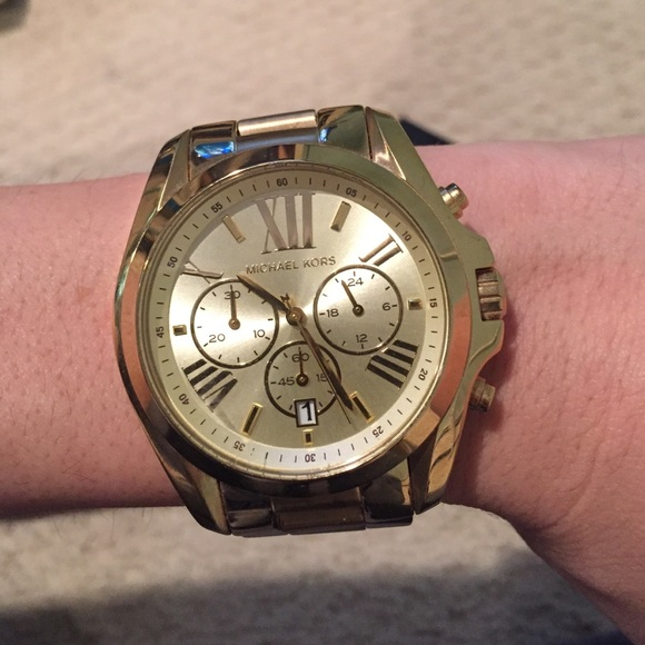 63ceac03e44d Michael Kors Bradshaw Gold Watch 43mm mk5605. M 56f48b1a99086a42de026b53