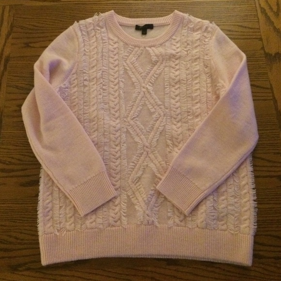 5f92404de67411 J. Crew Sweaters | J Crew Cable Knit Sweater With Fringe Detail ...