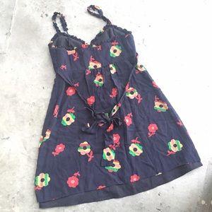 Betsey Johnson Dresses - Betsey Johnson Vintage Floral Print Babydoll Dress