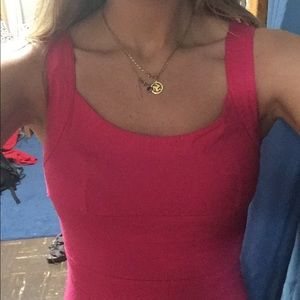 Dresses - Hot pink bodycon