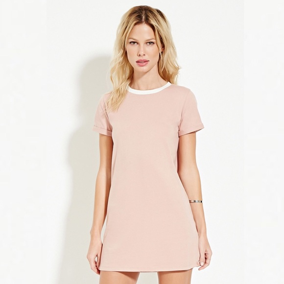 0bb16510143d Forever 21 Baby Pink T Tee Shirt Dress