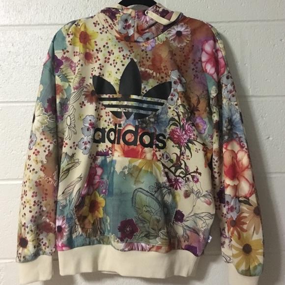 adidas floral sweatshirt