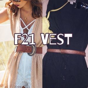 Forever 21 Tunic Button Up Vest