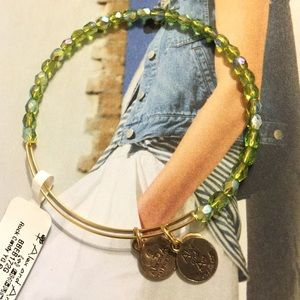 Alex and Ani Moss Rock Candy Beaded Bangle, NWT